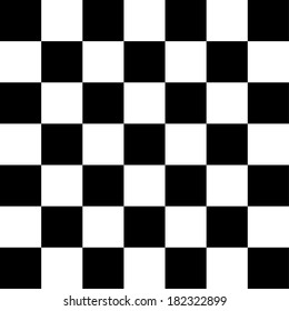 Simple black and white checkered abtract background
