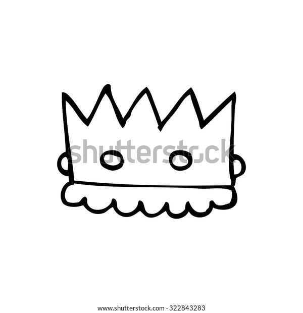 Simple Black White Line Drawing Cartoon Stock Vector Royalty Free 322843283 First, draw the crown using simple curved lines and basic shapes (like circles and rectangles). shutterstock