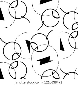 Simple black and white vector illustration. Abstract geometric background pattern