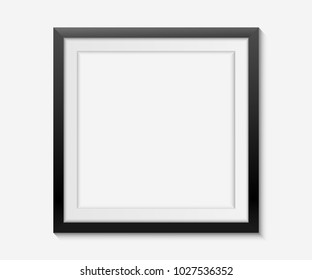 simple blank frame on white background