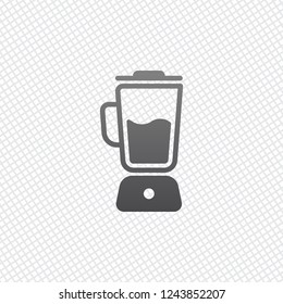 Simple blender icon. Electronic kitchen mixer. On grid background