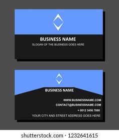 Dark Modern Business Card Design Template Stock Vector Royalty Free