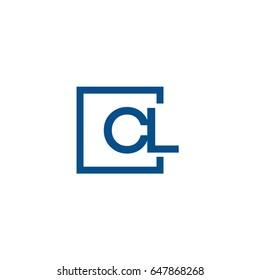 Simple Blue CL initial Logo designs template