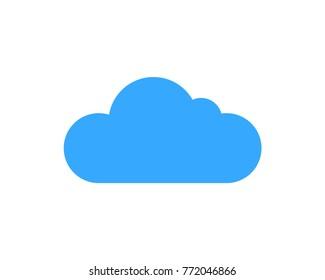 Simple Blue Cloud Shape Symbol Vector