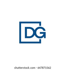 Simple Blue DG initial Logo designs template