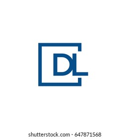 Simple Blue DL initial Logo designs template