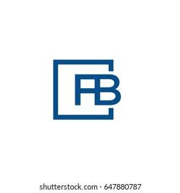 Simple Blue FB initial Logo designs template