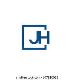 Simple Blue JH initial Logo designs template
