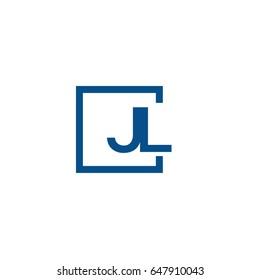 Simple Blue JL initial Logo designs template