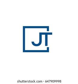 Simple Blue JT initial Logo designs template