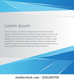 simple blue layout background vector design with shiny whit line