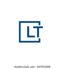 Simple Blue LT initial Logo designs template