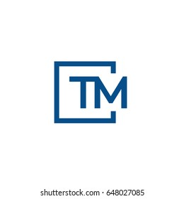 Simple Blue TM initial Logo designs template