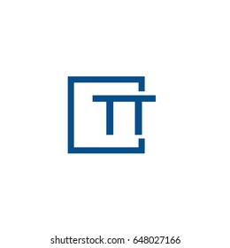 Simple Blue TT initial Logo designs template