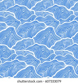 simple blue waves / mountains pattern