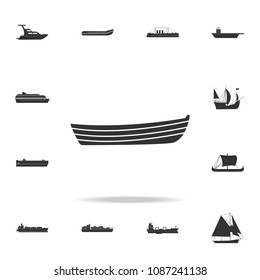 simple boat icon. Detailed set of water transport icons. Premium graphic design. One of the collection icons for websites, web design, mobile app on white background