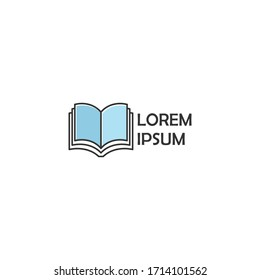 Simple Book Concept logo icon vector design