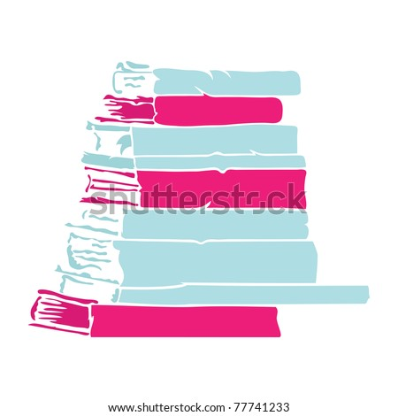 simple book stack silhouette vector stock vector royalty free