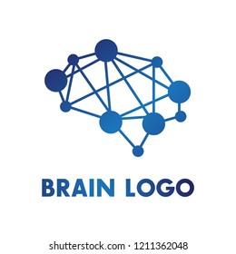 Simple brain logo vector