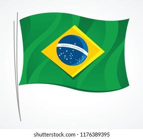Simple Brazil flag