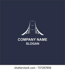 Simple bridge logo.