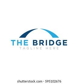 Simple bridge logo design