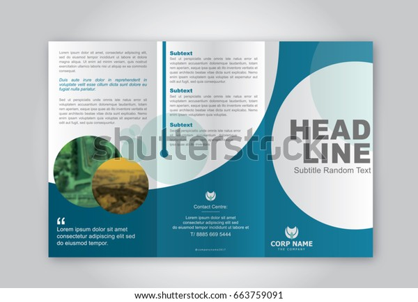 Simple Brochure Design Layout Stock Vector (Royalty Free
