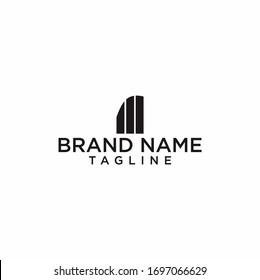 simple building logo design vector