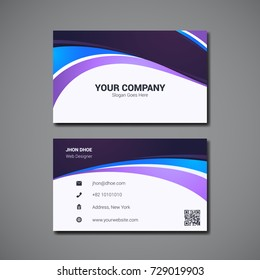 simple business card design template with company logo placeholder - Simple Business Card Design
