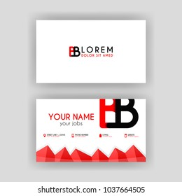 Simple Business Card with initial letter BB rounded edges