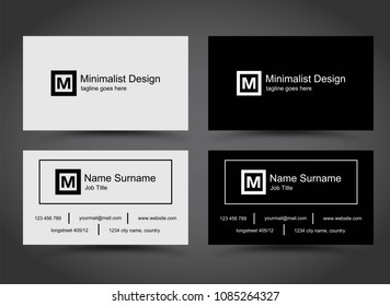 Simple business cards template set vector