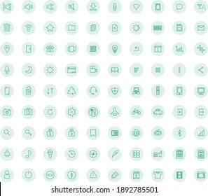 Simple business icon set (green)