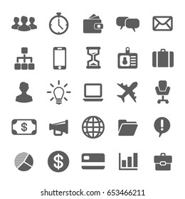 Simple Business icons set. Universal Business icon to use in web and mobile UI, set of basic UI Business elements