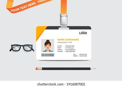 Simple business Id card design template ,clean and smooth ,eps
