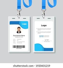 Simple business Id card design template.