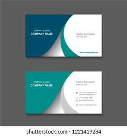 simple Business name card set template. design template. Vector illustration. Annual report