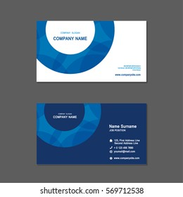 simple Business name card set template. design template. Vector illustration. Annual report.