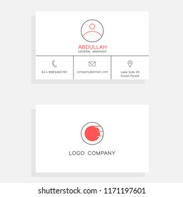 Simple bussiness card with component. Madw with inkscape