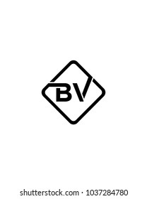 Simple BV initial Logo design template vector illustration