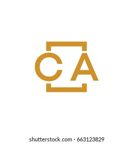 Simple CA initial Logo designs template vector illustration