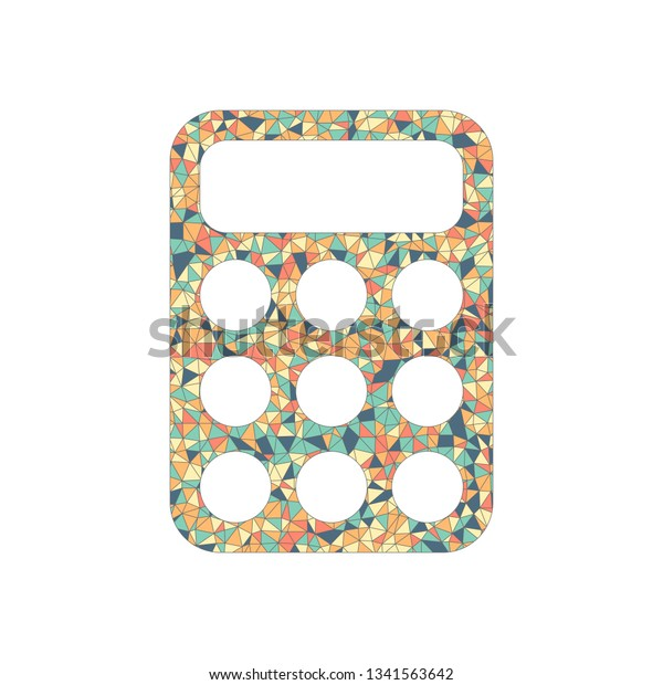 Simple Calculator Icon Colored Mosaic Polygons Stock Vector (Royalty