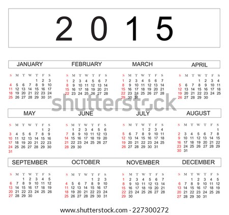 simple calendar template 2015 - Emayti australianuniversities co