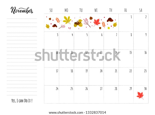 Simple Calendar 2019 Grid Lettering Month Stock Vector (Royalty Free