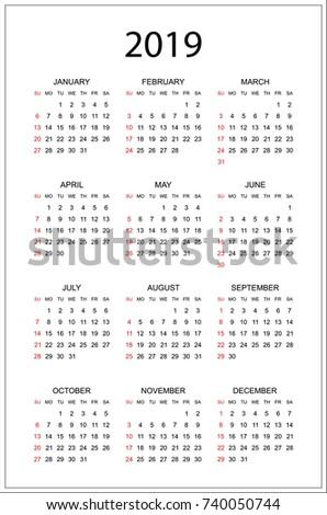 simple calendar 2019 - Monza berglauf-verband com