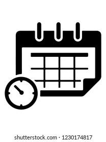 Simple Calendar Icon.