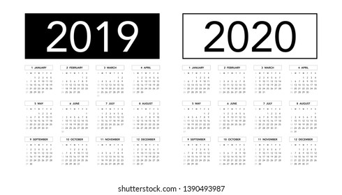 Calendario Con Week 2018.Numeros Calendario 2019 Con Lunas Images Stock Photos