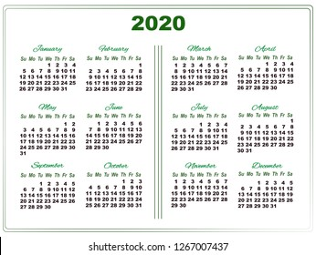 Calendar 2020 Islam Wonderful Future World's Portfolio   Illustrator / Vector Artist