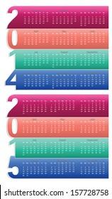 Simple Calendar year 2014, 2015, vector