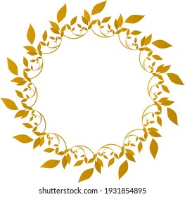 Simple calligraphy round frame illustration