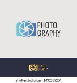 Simple camera photo logo vector design